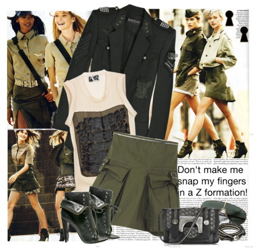 С чем носить юбку милитари