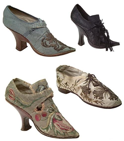 05939a5a8 Самые же высокие каблуки носили в годы Людовика XIV. В 19 веке туфли  сменяются кожаными ботинками на шнурках, с каблучком средней высоты,  застежками и ...