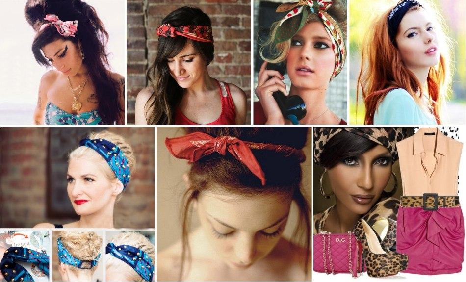 Модный платок на голову своими руками 21