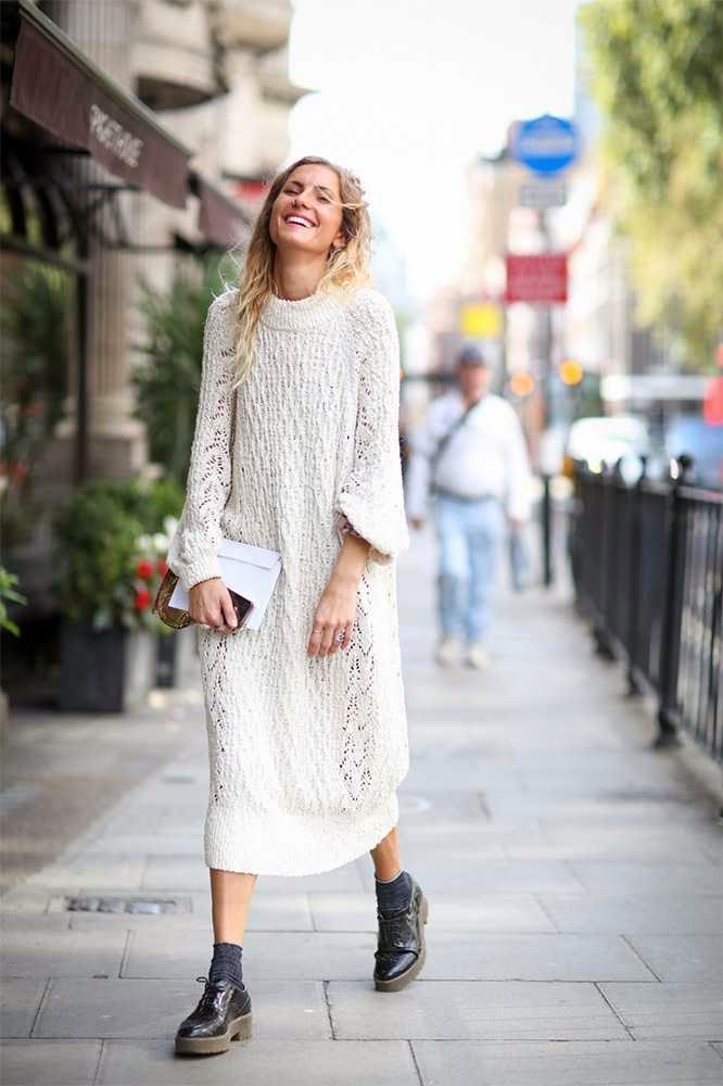 вязаное платье 2
