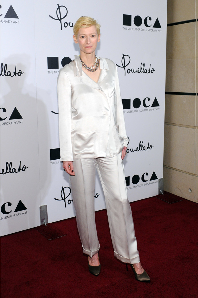 BEVERLY HILLS, CA - JANUARY 30: Host Tilda Swinton attends the opening of Pomellato's Rodeo Drive boutique hosted by Tilda Swinton and benefiting MOCA held at Pomellato Boutique on January 30, 2012 in Beverly Hills, California. (Photo by Stefanie Keenan/WireImage)